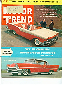 Motor Trend Magazine -  November 1956 (Image1)