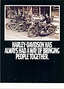 Harley Davidson brings people together brochure - (Image1)