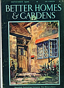 Better Homes & Gardens magazine -  September 1930 (Image1)