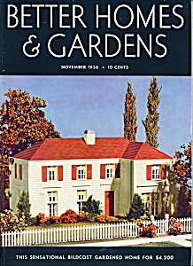 Better Homes & Gardens magazine- November 1936 (Image1)
