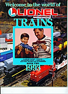 Lionel Trains Book One Magazine - 1993lionel Electric T