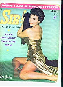 SIR! - Male magazine - April 1957 (Image1)