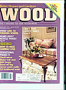 Wood Magazine -  January 1992 (Image1)