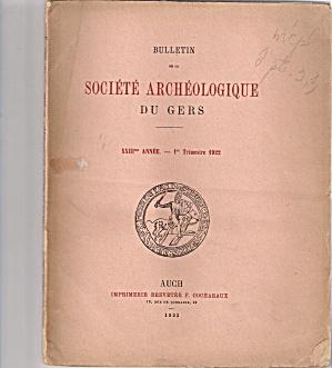 SOCIETE ARCHEOLOGIQUE DU GERS -  lst trimester 1922 (Image1)