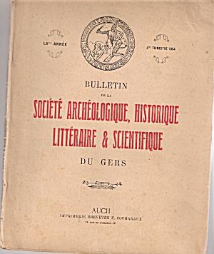 Bulletin - SOCIETE ARCHEOLOGIQUE HISTORIQUE - 1956 (Image1)