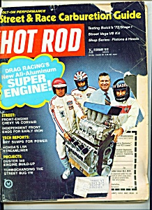Hot Rod magazine -  February 1972 (Image1)