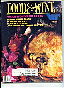 Food & Wine magazine-  February 1988 (Image1)