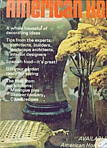 American Home Magazine- March 1968