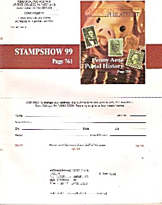 American Philatelic Society Magazine - August 1999