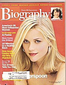 Biography magazine - June 2002 (Image1)