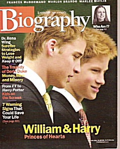 Biography magazine-Nov. 2001 (Image1)