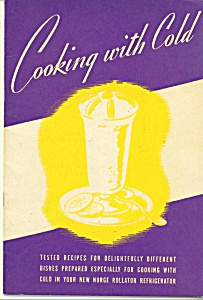 Cooking With Cold Recipes - Copyright 1940