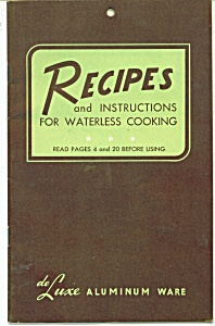 Recipes for Waterless cooking booklet - coyright 1946 (Image1)