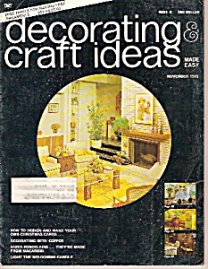 Decorating Craft Ideas - November 1973