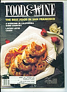 Food & Wine -  March 1988 (Image1)