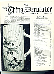 The China Decorator - January 1970