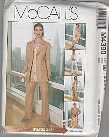 Mccalls - Pattern 4390 - Sz 8-10-12-14 - Wardrobe