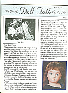 Doll Talk  magazine -  June 1986 (Image1)