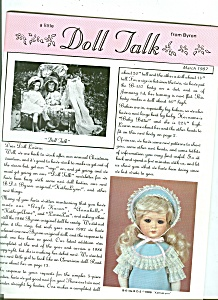 Doll Talk from Byron - March 1987 (Image1)