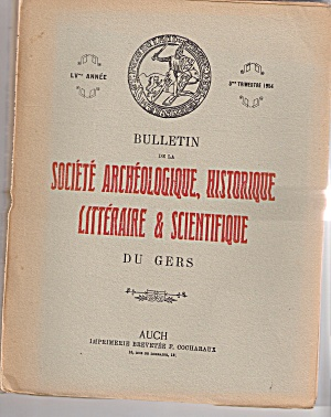 Bulletin SOCIETE  ARCHEOLOGIQUE, HISTORIQUE -Trimestre (Image1)