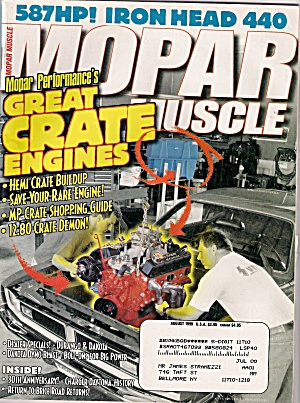 MOPAR MUSCLE PERFORMANCE -  aUGUST 1999 (Image1)