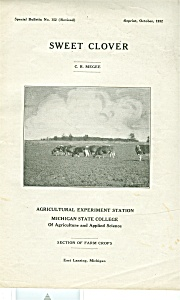 Sweet Clover  - Michigan State college -  Oct. 1932 (Image1)