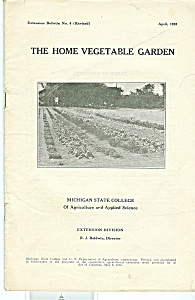 The Home Vegetable Garden booklet - April 1933 (Image1)