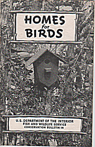 Homes for birds booklet - Bulleting 14 -   1957 (Image1)