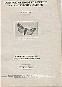 Control methods for insects of kitchen garden -  1931 (Image1)