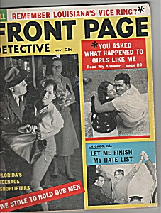 Front Page Detective Magazine - November 1956