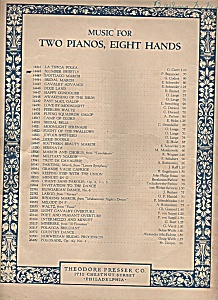Music for two pianos, eigcht hands -SLUMBER SWEETLY (Image1)