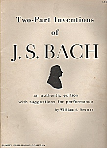 Two Part Inventions - J.s.bach By William S. Newman