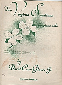 Two Virginia Sonatinas for piano solo - copyright 1953 (Image1)