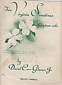 Two Virginia Sonatinas for piano solo - copyright 1953 (Image1)