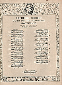 Frederic Chopin works for the Pianoforte -Nocturnes (Image1)