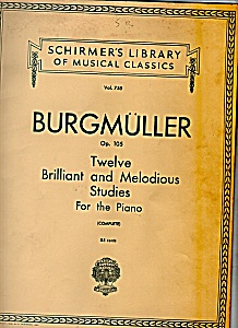 Burgmuller  music for the piano -copyright 1930 (Image1)