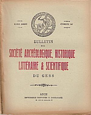 SOCIETE ARCHEOLOGIQUE, HISTORIQUE -  4TH TRIMESTER 1947 (Image1)