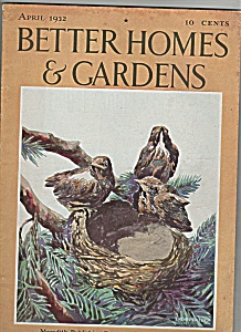 Better Homes & Gardens - April 1932
