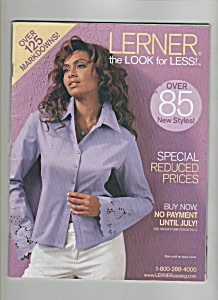 Lerner Women's Clothes Catalog -july 2003