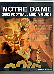 Notre Dame 2002 Football Media guide. (Image1)