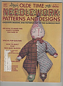 Olde Time Needlework Pattersns & Designs - Sept. 1974