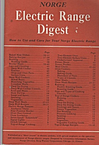 Norge Electric Range Digest