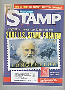 Scott Stamp monthly magazine -  November 2006 (Image1)