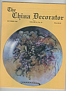 TheChina Decorator -  October 1986 (Image1)