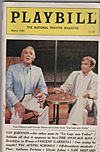 Playbill magazine - VAN JOHNSON - March 1985 (Image1)