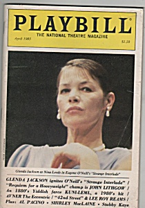 Playbill magazine- GLENDA JACKSON - April 1985 (Image1)