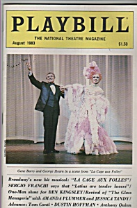 Playbill Magazine- Gene Barry August 1983