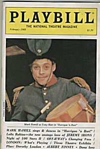 Playbill Magazine - February 1985 -mark Hamil