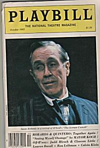 Playbill magazine- JASON ROBARDS -October 1985 (Image1)