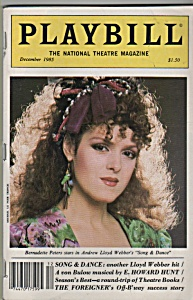 Playbill magazine - BERNADETTE PETERS  - December 1985 (Image1)